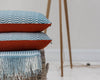 sea blue ripple cushion no.1 orange back