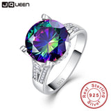 Rainbow Topaz Engagement Ring