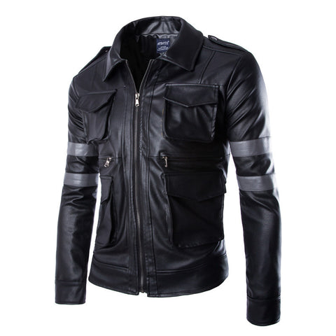 Men's England Style Leather Jacket