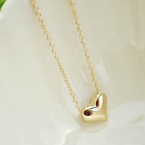 Exquisite Gold Chain Heart Neckless
