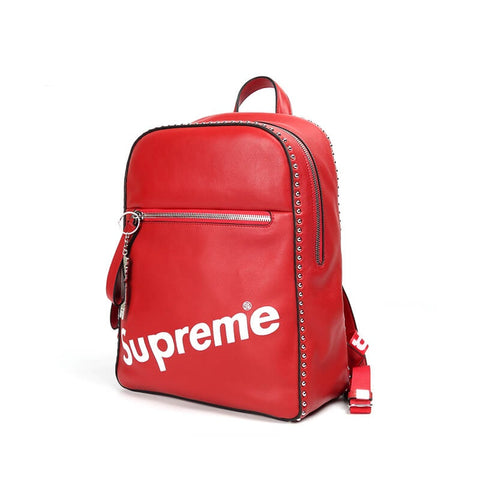 New Arrival SUPREME leather backpack X911721001, X911721050