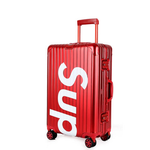 New Arrival SUPREME Aluminum Magnesium Alloy Luggage Trolley Case 20-28 inch