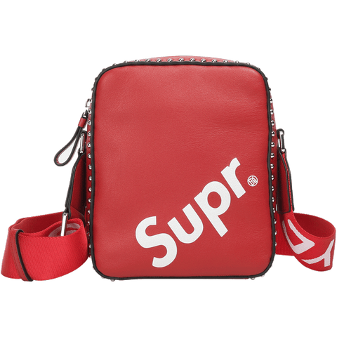 Image of New Arrival SUPREME  fashion street fashion shoulder bag leather X911152050, X911152001