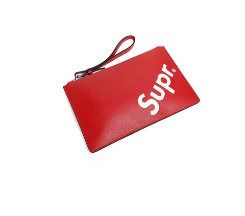 New Arrival SUPREME leather Clutch Bag X911760001, X911760050
