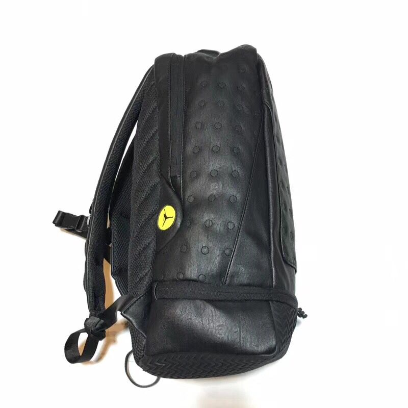 Air Jordan 13 AJ13 All black Backpack - RapCrushers 52f631b544ba7