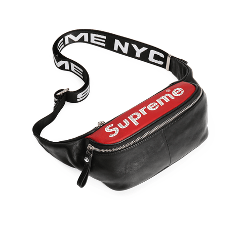 New Arrival SUPREME Men's Messenger Bag Fashion Tide brand first layer leather backpack 7921750011