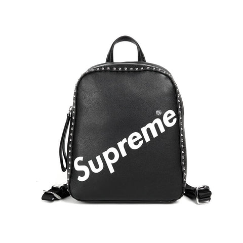 New Arrival SUPREME leather backpack X911722001, X911722050