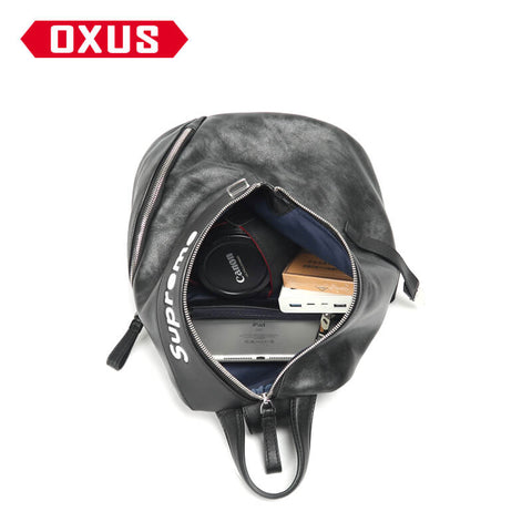 New Arrival SUPREME chest bag male leather full-faced shoulder X907740001