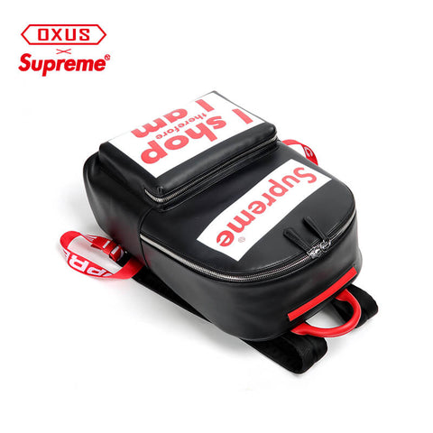New Arrival SUPREME New First Layer Leather Korean Travel Bag X915720001