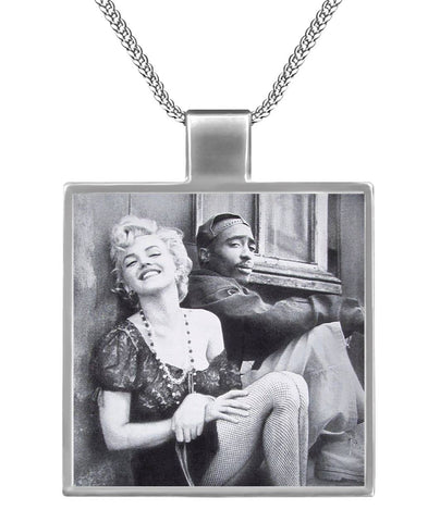 2Pac Marilyn rap chain necklace