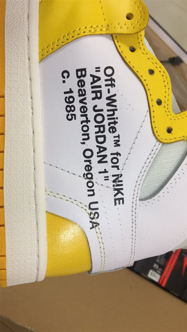 Air Jordan 1 Retro High OFF-WHITE Canary Yellow