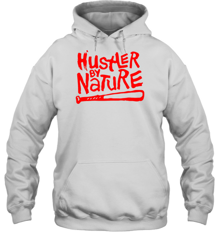 Image of Hustle by Nature hip hop shirt hoodies 0210 white