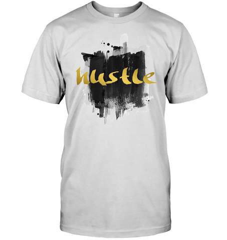 Image of Graphic Hustle Men's shirt hip hop clothing 0210 white