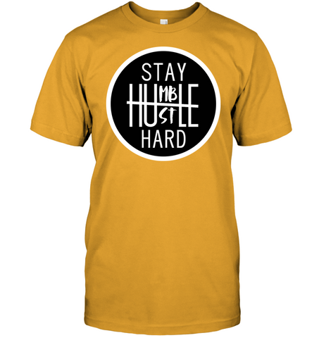 Stay Humble hustle hard men's shirt hip hop clothing 0210 white