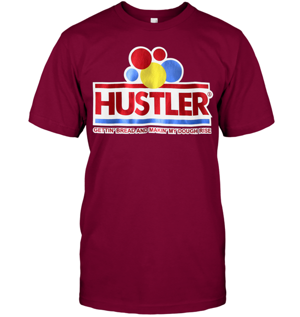 HUSTLER Gettin' Bread Daily   Men's T Shirt 2709 white