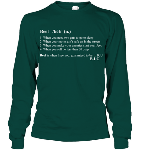 Image of The Notorious B.I.G What's Beef Men's shirt hoodies