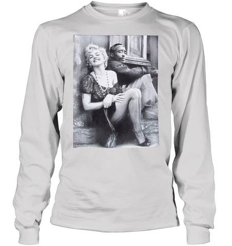 Image of 2pac marilyn Shirt Hip hop clothing - Rap shirt white