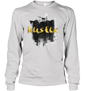 Graphic Hustle Men's shirt hip hop clothing 0210 white
