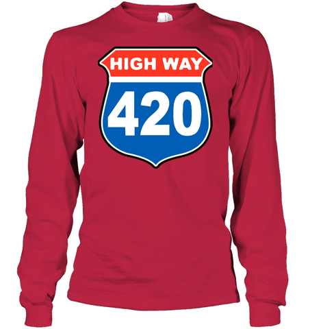 Image of High way 420 WEED white