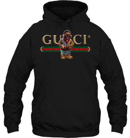 Image of RAP IS MY LIFE Black Gucci Biggie