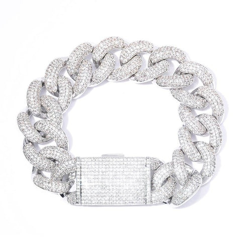Iced Out CZ Miami Cuban Link Bracelet (20mm)