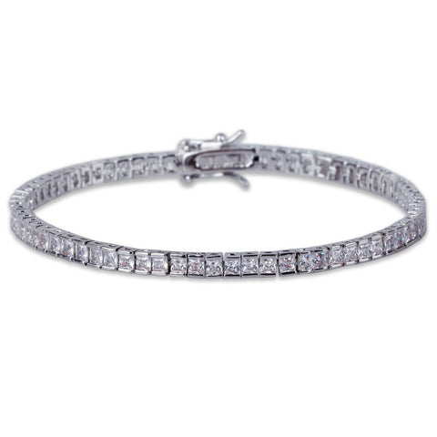 Single Row Tennis Bracelet (4 mm)