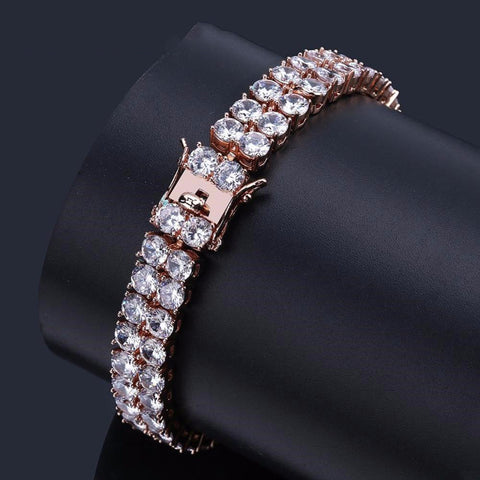 Two Rows Tennis Bracelet (10 mm)