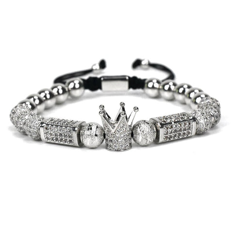 2pcs/Set Crown Charm Bracelet