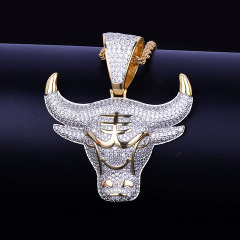 Image of Cow Pendant Necklace