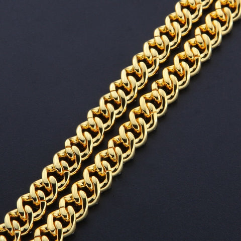 Image of Cubic Zirconia Cuban Link Bracelet (9mm)