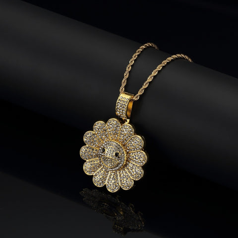 Image of Sunflower Pendant Necklace