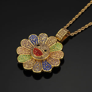 Sunflower Pendant Necklace