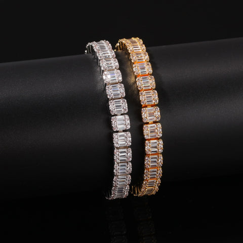Square CZ Single Row Tennis Bracelet (8.6 mm)