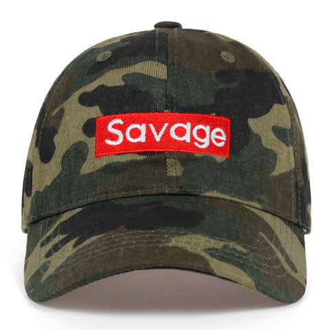 Image of 2019 new savage letter Embroidered baseball cap 100%cotton Couple Leisure Caps Hip hop snapback golf hat fashion dad Hats