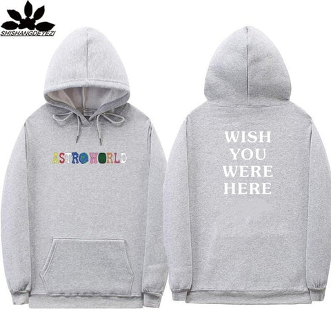 Print I WENT TO ASTROWORLD AND ALL I GOT WAS THIS Hoodie WISH YOU WERE HERE Hoodies Men/Women Hip Hop Streetwear Sweatshirt