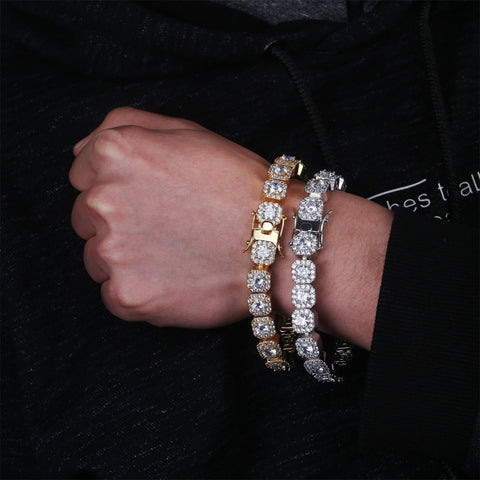 Single Row CZ Tennis Bracelet (10mm)