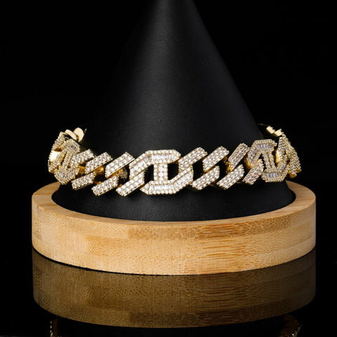 Baguette Cuban Chain Bracelet (14mm)