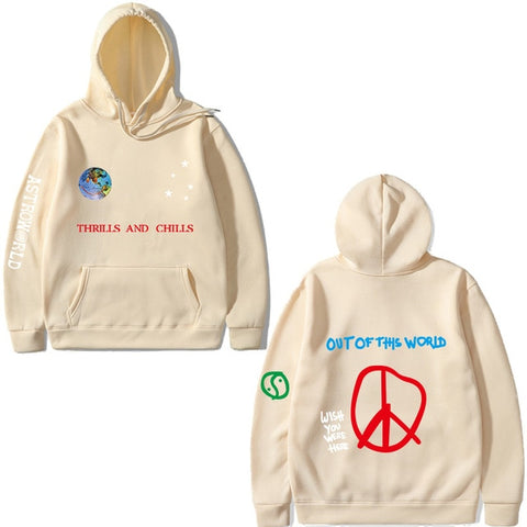Image of Astroworld THRILLS AND CHILLS Hoodies Spring Autumn Streetwear Pullover Travis Scotts Young Men Women FashionHip Hop Printing