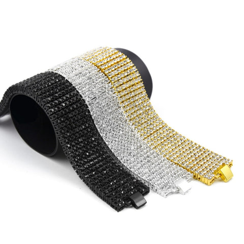 Hip Hop 8 Rows Tennis Chain Bracelet