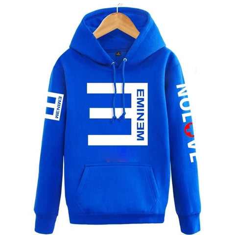 Image of 2019Winter Men's Fleece Hoodies Eminem Printed Thicken Pullover Sweatshirt Men Sportswear Fashion Clothing women sweatshirt