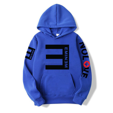 2019Winter Men's Fleece Hoodies Eminem Printed Thicken Pullover Sweatshirt Men Sportswear Fashion Clothing women sweatshirt
