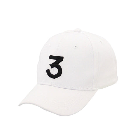 Image of Male Female Sunshade Casual Baseball Caps Number 3 Printed Snapback Caps Popular Unisex Adjustable Cotton Hip-hop Hats