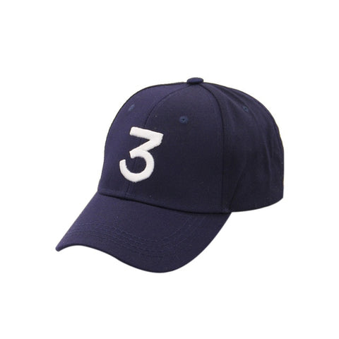 Male Female Sunshade Casual Baseball Caps Number 3 Printed Snapback Caps Popular Unisex Adjustable Cotton Hip-hop Hats