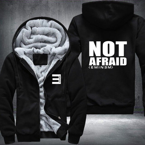 Image of streetwear USA Plus EU American Size  hip hop Eminem Men's Women's Pattern Thicken Fleece Zipper Hoodies Sweatshirts Coat Jacket
