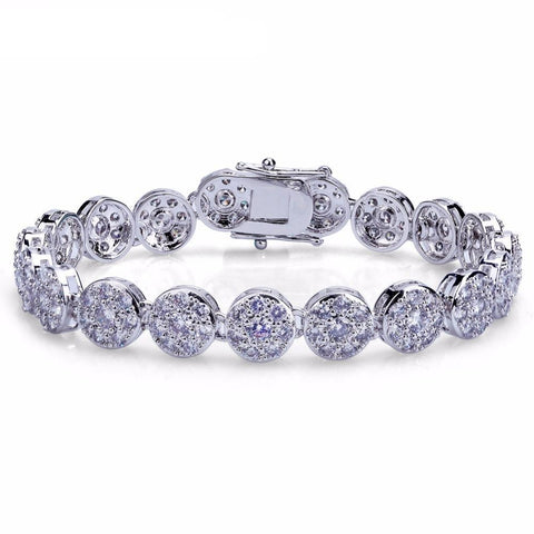 Round CZ Tennis Chain Bracelet (10mm)