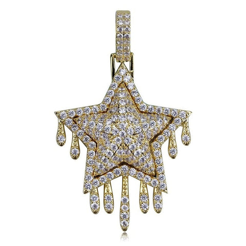 Image of Drip Star Pendant Necklace