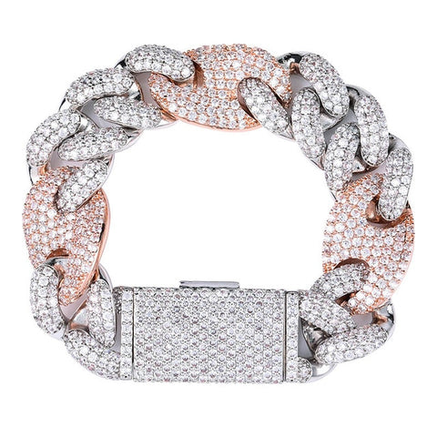 Iced Out CZ Miami Cuban Bracelet (20mm)