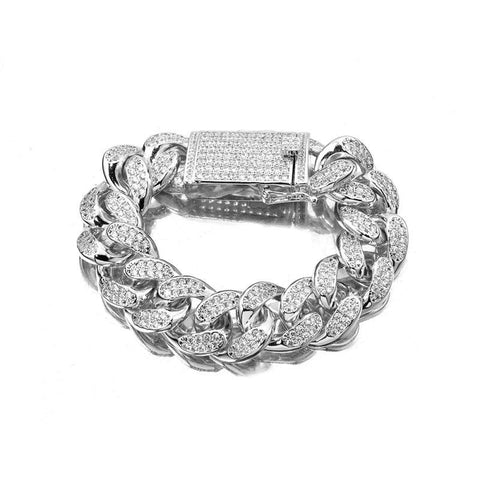 Cuban Miami Link Chain Bracelet (18mm)