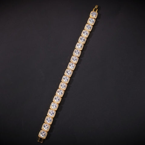 Square CZ Single Row Tennis Bracelet (10 mm)