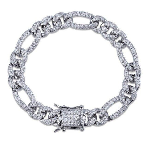 Iced Out Miami Curb Cuban Bracelet (10mm)